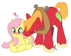 My Little Pony: Friendship is Magic Bic Macintosh and Fluttershy Raimbow Dash, Big Macintosh, Hasbro My Little Pony, Mlp Fan Art, Mlp Pony, Pony Pony, Little Poney, Dreamworks Animation, Princess Celestia