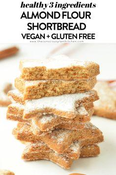 Almond flour sugar cookies are vegan healthy sugar cookies with almond flour. Gluten free, paleo sugar cookies ready in 20 minutes. Healthy Sugar Cookies, Gluten Free Sugar Cookies, Almond Flour Cookies, Baking With Almond Flour, Almond Flour Recipes, Vegan Sugar, Keto Cookies, Gluten Free Baking, Vegan Baking
