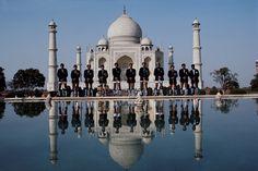 Neil Leifer's 1984 Olympic Odyssey Around the World // Indian field hockey team, Taj Mahal