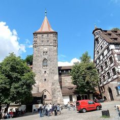 """It was due to pour with rain today but we're so glad it didn't. We traipsed around Nuremburg recreated after WWII. """"The Disney of Germany"""" as our guide so succinctly put it..."""