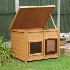 Our outdoor dog kennel is a great choice for dog lovers. It offers sturdy construction & comfort including a heating pad.