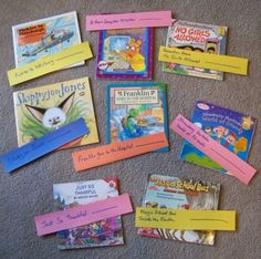 {Helping Kids Create Books Connections} Create a book chain, play I Spy and more fun ways to learn with books!