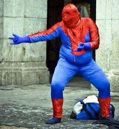 Hombre araña gordo