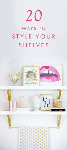 Shelving not only allows for added storage in your small home or apartment, but also gives you an opportunity to incorporate great design into your space. Learn how to decorate shelves with these helpful DIY home decor tips!