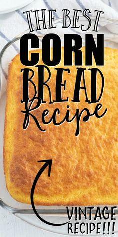 Cornbread Recipe From Scratch, Southern Cornbread Recipe, Healthy Cornbread, Buttermilk Cornbread, Homemade Cornbread, Sweet Cornbread, Cornbread Recipes, Easy Cornbread Recipe With Corn, Biscuit Recipe