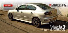 Mazda 3 BK Lenzdesign Bodykit & Spoilers 2003 2004 2005 2006 2007 2008 2009 Mazda 3 2004, Mazda 3 Sedan, Car Mods, Carbon Fiber, Kit, Ideas, Cars, Autos, Super Car