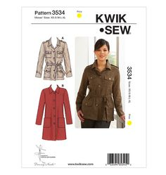 Jackets Kwik Sew Patterns, Flattering Outfits, Sewing Stores, Sewing Crafts, Military Jacket, Coat, Jackets, Clothes, Shopping