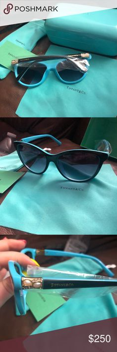 601c3e5e6297d Tiffany cat eye sunglasses Brand new cat eye style Tiffany Sunglasses with  accessories Tiffany   Co