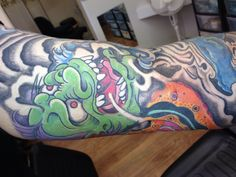 Hannya mask done by Mark Pennell @ Serious Ink Shirehampton Bristol