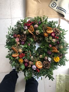 Adorn your doors this Christmas with our special 2019 Christmas wreath collection. Full with seasonal foliage, berries and hand dried creations. All handmade in Philipa's studio in Woodford Green, London - Delivery across London and Essex. Burlap Christmas Tree, Small Christmas Trees, Christmas Swags, Xmas Wreaths, Christmas Flowers, Rustic Christmas, Christmas Lights, Christmas Crafts, Christmas Christmas