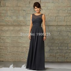 Cheap dress houndstooth, Buy Quality dress up hot men directly from China dresses converse Suppliers: 	Welcome to Uncle House Dress Store		  						Lange Kleider Dark Grey Bridesmaid Dresses Long Party Dress Chiffon Pl