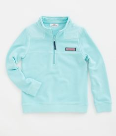 Girls' Pullovers: Overdyed Shep Shirt for Girls' - Vineyard Vines Blue/Pink