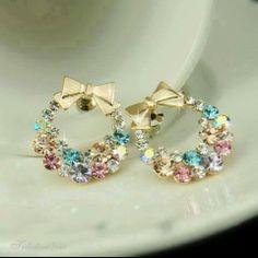 Beautiful bow earings