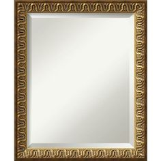 Solare Embossed Gold 19.13 x 23.13 In. Bathroom Mirror