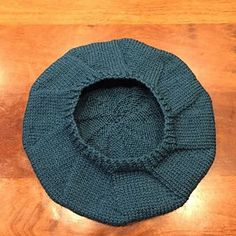 This is a nice quick and simple beret to knit up for a last minute present. It's great for using up leftover yarn from a sweater project – you need about one and a half standard 50g balls of DK yarn. The shaping gives the top the look of a nicely sliced pie!