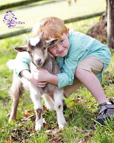Easter Photography with Goat