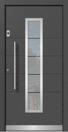 Modern wood-aluminum front doors directly from the specialist company with measurements, delivery and installation Modern Wooden Doors, Custom Wood Doors, Modern Front Door, Front Doors, Single Door Design, Wooden Main Door Design, Flat Roof House, Window Grill Design, Door Design Interior