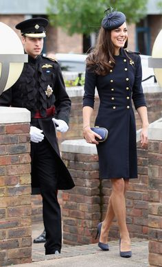 Prince William, Duke of Cambridge and Catherine, Duchess of Cambridge arrive at the Victoria Barracks on June 25, 2011 in Windsor, England. The Duchess of Cambridge and Duke of Cambridge are at the barracks to present service medals to members of the Irish Guards.  Alexander McQueen military coat.
