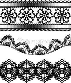 Frises motifs dentelles. A méditer pour un projet sur les deux mollets