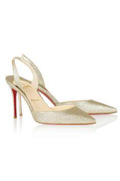 Zapatos glitter destalonados, de Christian Louboutin.