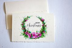 Christmas cards Merry Christmas Calligraphy  Holiday Cards