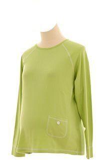 Lilo Maternity Stitched Crewneck T-shirt (X-Large, Lime Green with White Stitching) Lilo Maternity. $12.00