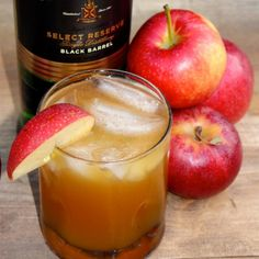 Jameson Irish Whiskey mixed with apple cider and sprinkled with cinnamon makes the perfect fall cocktail.