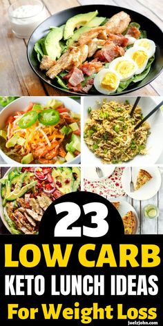 Low Carb lunches that are so easy to make and perfect for work.Low Carb keto lunch ideas for work and for weightloss Low Carb lunches that are so easy to make and perfect for work.Low Carb keto lunch ideas for work and for weightloss Low Calorie Lunches, Low Carb Lunch, Low Carb Keto, Keto Lunch Ideas, Lunch Recipes, Diet Recipes, Healthy Recipes, Low Fat Lunch Ideas, Lunch Ideas For Work