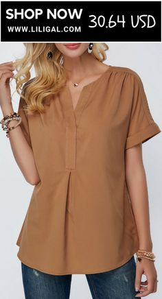 Shop Womens Fashion Tops, Blouses, T Shirts, Knitwear Online Blouse Styles, Blouse Designs, Trendy Tops For Women, Short Sleeve Blouse, Casual Tops, Fashion Dresses, Tunic Tops, Clothes For Women, Jeans