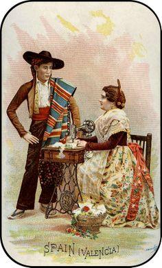 SINGER Sewing Card - SPAIN
