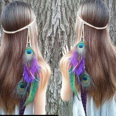 Still a favorite of mine.  I originally designed this for a #bride and later introduced it to the shop.  The Divine peacock feather headband is adorned with peacock and majestic purple feathers with silver beading. Find it in my etsy shop Diesel boutique.etsy. com #pocahontas #hippie #bohochic #adventure #travel #etsy #headdress #tribal #featherheadband #elven #fashion #boho #bohemian #gypsy  #longhair #bohemianfashion #freespirit #peacock #headband #festival #wanderlust #goodvibes…