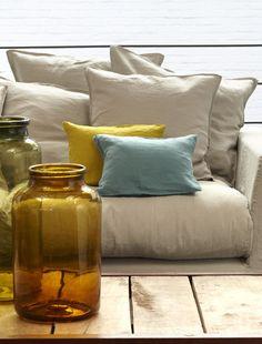 Housses sur pinterest chaises canap s et salles manger - Housses de canapes ...