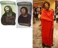 Costume based on Ecce Homo, Elias Garcia Martinez, 1800s. Sanctuary of Mercy Church, near Zaragoza, Spain
