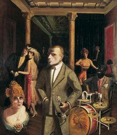 Otto Dix To Beauty (An die Schönheit) 1922 Oil and collage on canvas 54 x 47 in. x Exhibition: 'New Objectivity: Modern German Art in the Weimar Republic, at the Los Angeles County Museum of Art (LACMA) Art Dégénéré, Karl Schmidt Rottluff, George Grosz, New Objectivity, Degenerate Art, Art Moderne, Kandinsky, Cabaret, Dresden