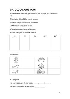 Dossier llengua 3er Catalan Language, Sistema Solar, Worksheets For Kids, Valencia, Classroom, Teaching, Writing, Texts, Reading Comprehension