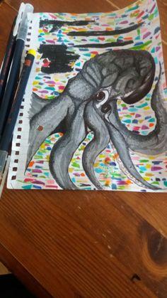 Brush pens & octopus.