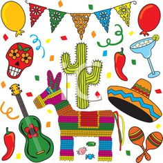 Royalty Free Clipart Image of Mexican Images