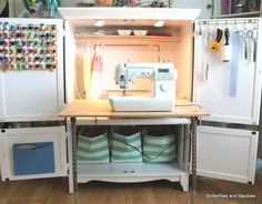 Etonnant Armoire Turned Sewing Cabinet | Armoires, Sewing Cabinet And Cabinet Storage