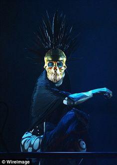 GraceJones, sings topless as part of the Vivid Sydney celebrations Tribal Body Paint, Grace Jones, Head Pieces, Black Feathers, Body Painting, Tarot, Sydney, Celebrations, Masks