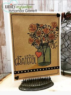 So Very Grateful {January 2018 Sentiment Kit} Unity Stamps, Love Hug, Very Grateful, Good Heart, January 2018, You Are Amazing, True Friends, Card Making, Kit