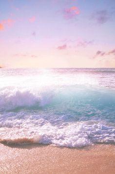 beautiful waves crashing on the beach, aahhh Ocean Beach, Ocean Waves, Big Waves, Summer Beach, Beach Waves, Pink Ocean, Beach Sunrise, Pink Beach, Ocean Pics