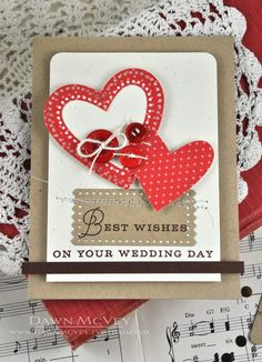 Wedding Day Wishes Card by Dawn McVey for Papertrey Ink (December 2013)