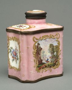 Tea Caddy Possibly made by Samson porcelain factory, Paris Late 19th - early 20th century
