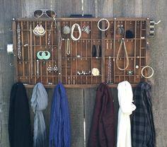 Letterpress Tray Jewelry Organizer