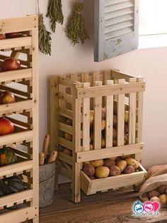 Home Interior Salas .Home Interior Salas Potato Storage Bin, Potato Bin, Storage Bins, Diy Storage, Storage Ideas, Food Storage, Fruit Storage, Pallet Storage, Cheap Storage