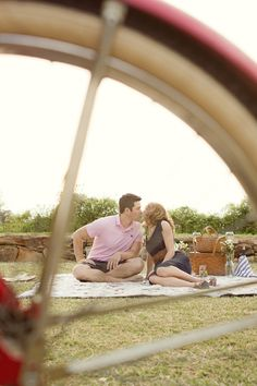 Sean and I love picnics on the weekends, I wish we had a cute picture together like this!