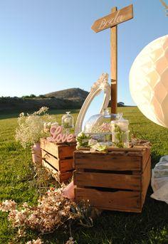 Decoración de boda rústica chic. Rustic chic wedding. www.theweddingmakers.es