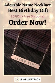 Get 26% Off discount + Free Shipping for this Adorable Name Necklace which can be a perfect gift for a friend or girlfriend ! Order now ! Jewelry Rack, Fashion Jewelry Necklaces, Women's Jewelry, Jewelry Accessories, Fashion Accessories, Boyfriend Promise Ring, Promise Rings For Couples, Beautiful Promise Rings, Yarn Necklace