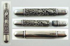 Superb English Art Nouveau Sterling Silver Needle Case c. 1894-95