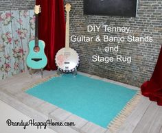 Tenney's Stage: DIY Guitar Stand & DIY Rug